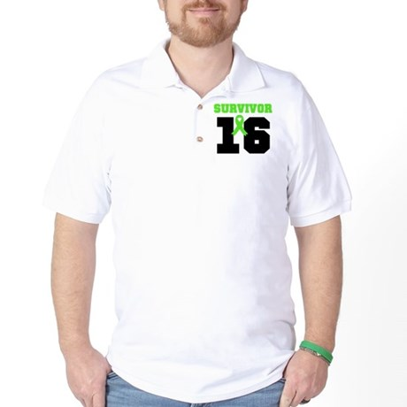 Lymphoma Survivor 16 Year Golf Shirt