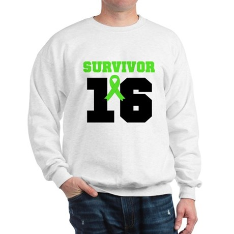 Lymphoma Survivor 16 Year Sweatshirt