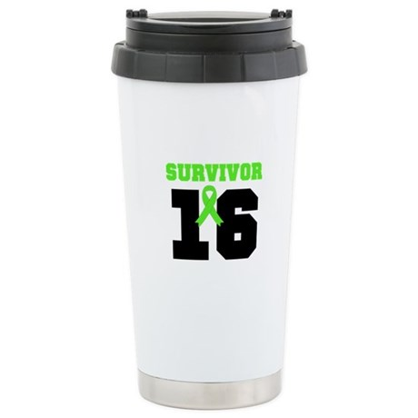 Lymphoma Survivor 16 Year Ceramic Travel Mug