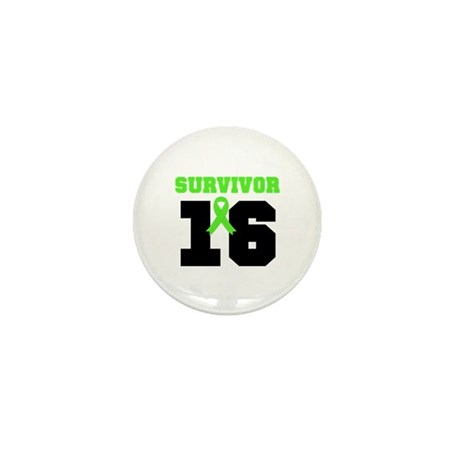 Lymphoma Survivor 16 Year Mini Button