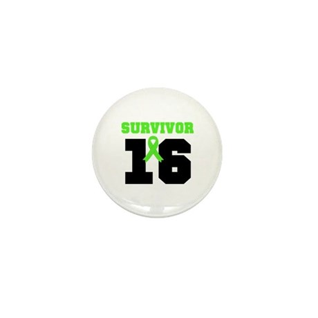 Lymphoma Survivor 16 Year Mini Button (10 pack)