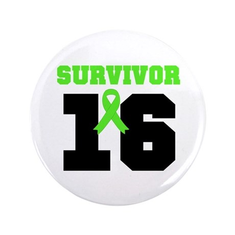 "Lymphoma Survivor 16 Year 3.5"" Button"