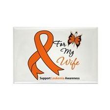 Leukemia Ribbon Wife Rectangle Magnet