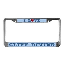I Love Cliff Diving License Plate Frame