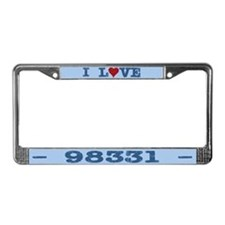 I Love Forks Washington 98331 License Plate Frame