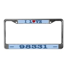 I Love Forks Washington 98331 License Plate Frame
