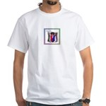 Acadian Pogy Cheque White T-Shirt