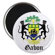 Gabonese Coat of Arms Seal Magnet