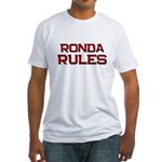 ronda rules Fitted T-Shirt