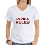 ronda rules Women's V-Neck T-Shirt