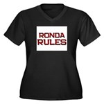 ronda rules Women's Plus Size V-Neck Dark T-Shirt