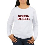ronda rules Women's Long Sleeve T-Shirt