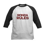 ronda rules Kids Baseball Jersey