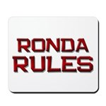 ronda rules Mousepad