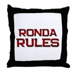 ronda rules Throw Pillow