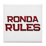 ronda rules Tile Coaster