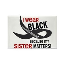 I Wear Black For My Sister 33.2 Rectangle Magnet (
