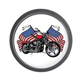 American Biker 3 Wall Clock