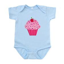 Pink Confetti Cupcake Infant Bodysuit