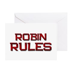 robin rules Greeting Card