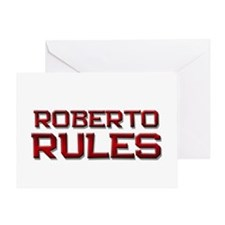 roberto rules Greeting Card