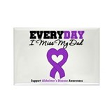 Alzheimer's MissMyDad Rectangle Magnet (10 pack)