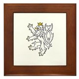 Bohemian Lion Framed Tile