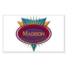 Madison Rectangle Sticker 10 pk)