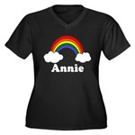 Annie Women's Plus Size V-Neck Dark T-Shirt