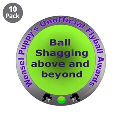 "Ball Shagging Flyball Award 3.5"" Button (10 pack)"