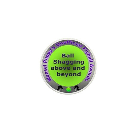 Ball Shagging Flyball Award Mini Button (100 pack)