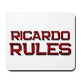 ricardo rules Mousepad