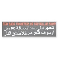 Get Back or Get Shot! Bumper Car Sticker