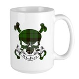 MacKay Tartan Skull Mug