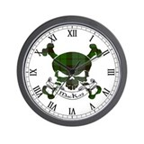 MacKay Tartan Skull Wall Clock