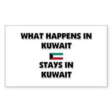 What Happens In KUWAIT Stays There Decal