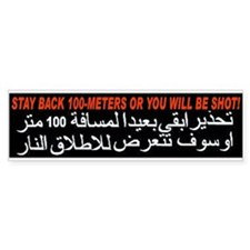 Get Back or Get Shot! Bumper Bumper Sticker