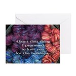 Tardy Knitter Holiday Cards - 10 pack
