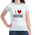 I LOVE ANGELICA Jr. Ringer T-Shirt