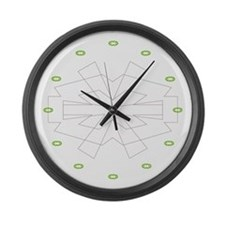 Icon Large Wall Clock (green)