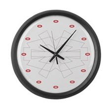 Icon Large Wall Clock (red)