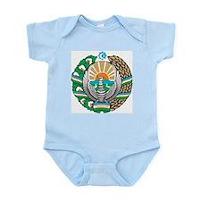 Uzbekistan Coat Of Arms Infant Creeper