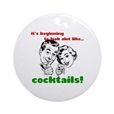 Cocktails! Ornament (Round)