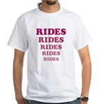 Amusement Park 'Rides' Rider White T-Shirt