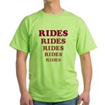 Amusement Park 'Rides' Rider Green T-Shirt