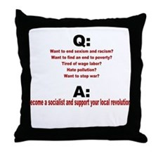Socialist questions and answe Throw Pillow