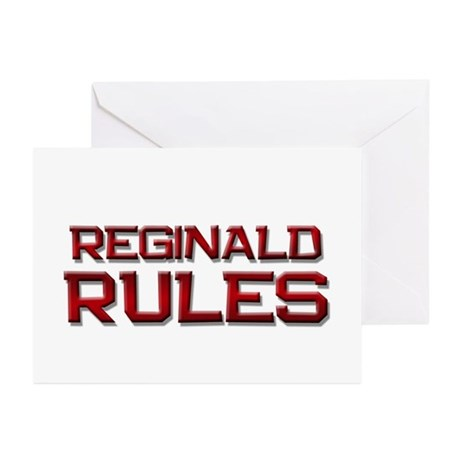reginald rules Greeting Cards (Pk of 10)