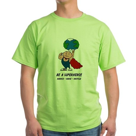 Earth Day Superhero Green T-Shirt