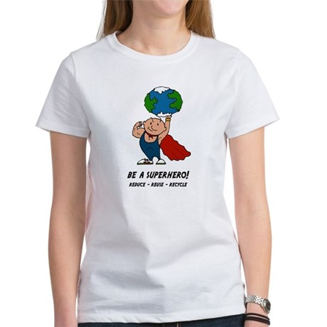 Earth Day Superhero Women's T-Shirt