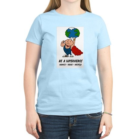 Earth Day Superhero Women's Light T-Shirt